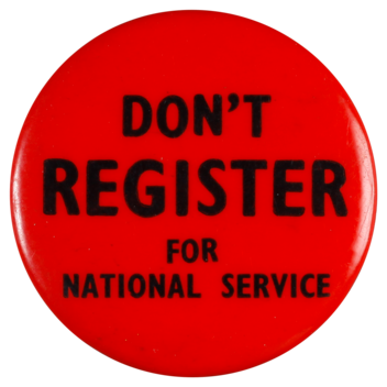 Don't register for national service