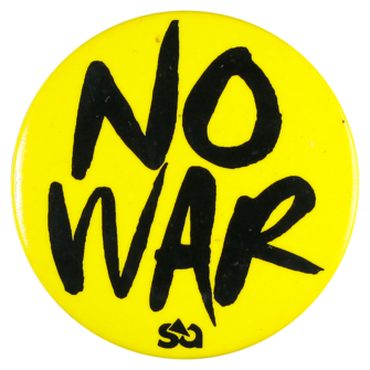 This badge was worn during the first decade of this century to protest against wars occurring in the middle-east.
